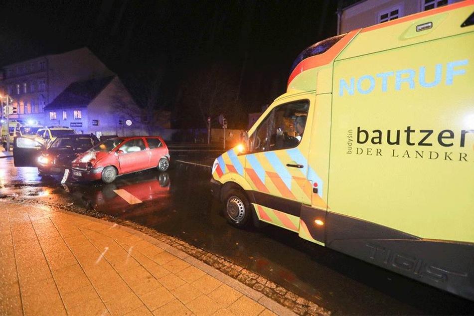 Ein Krankenwagen war vor Ort.