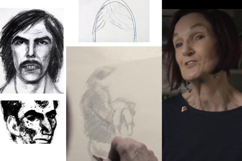 Die forensischen Polizei-Zeichnerin Melissa Little erklärt ihre Herangehensweise beim Erstellen der Fahndungsbilder.