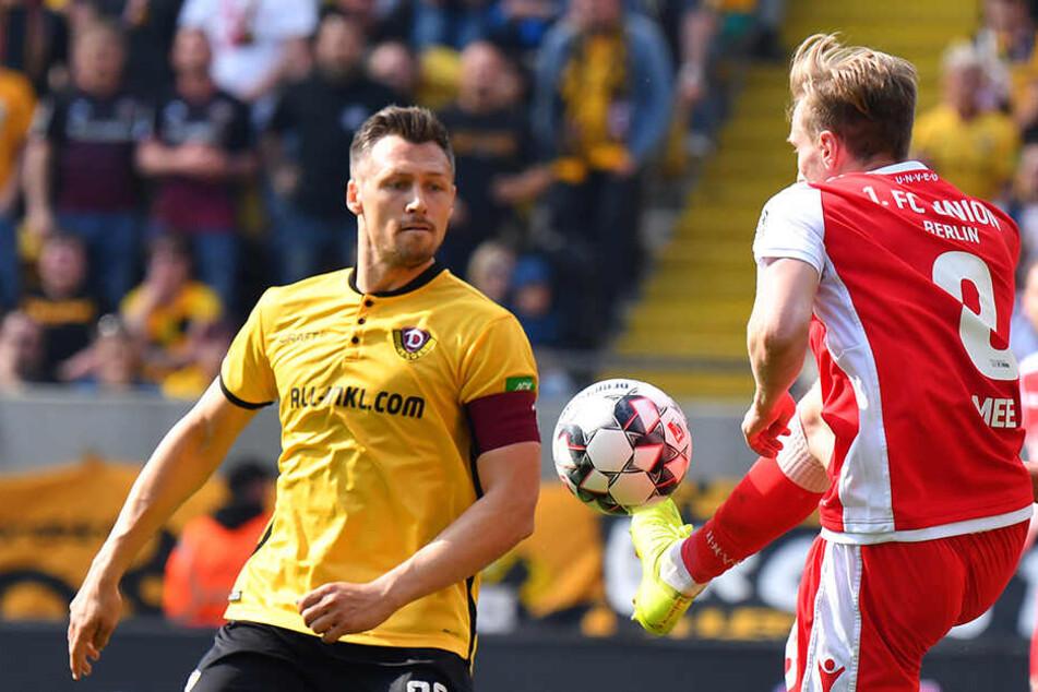 Dynamo-Kapitän Sören Gonther ordnete den Punkt gegen Union als besonders wichtig ein.
