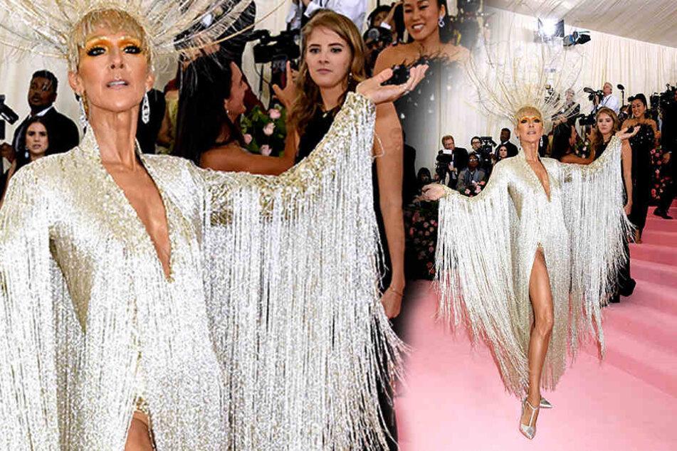Deutlich schlanker: Celine Dion Anfang Mai bei einer Benefizveranstaltung des Metropolitan Museum of Art Costume Institute in New York.
