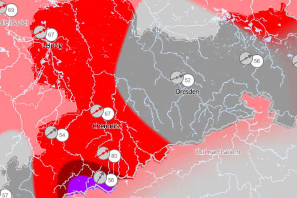 Es wird stürmisch am Wochenende in Sachsen, Sachsen-Anhalt und Thüringen.