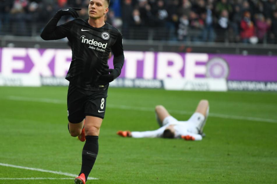 Luka Jovic schoss in der laufenden Bundesliga-Saison bereits 15 Tore für die Frankfurter Eintracht.
