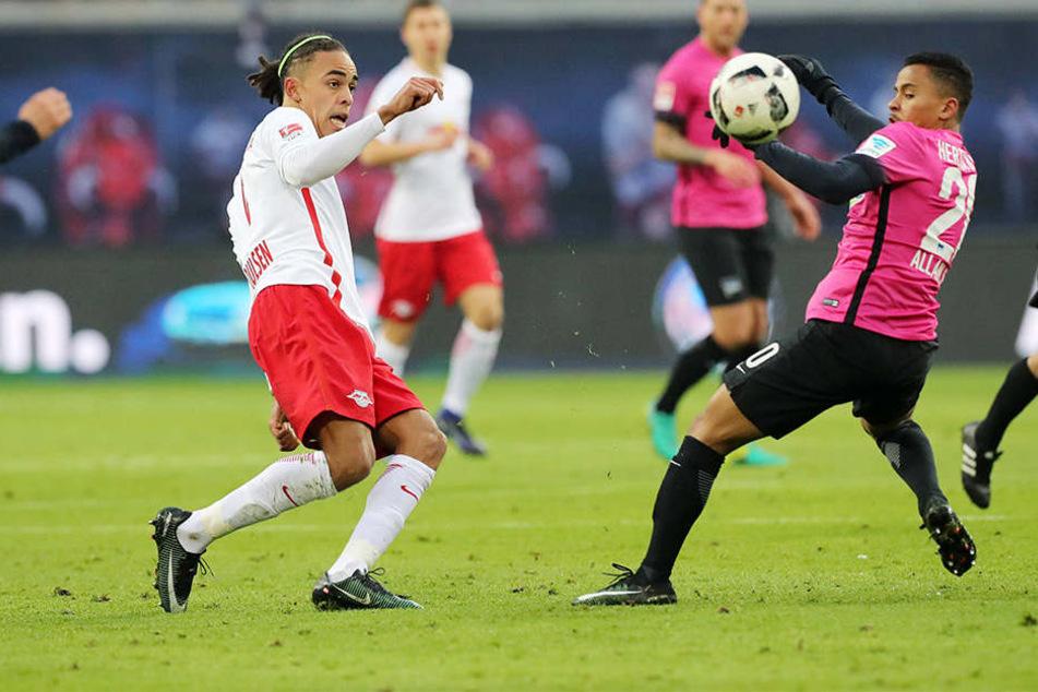 64 Prozent Ballbesitz hatte RB beim Spiel gegen gegen die Hertha.