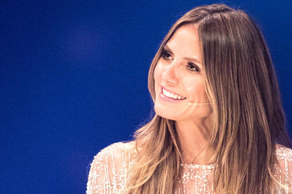 Heidi Klum (45) als Moderatorin beim Finale von Germany's Next Topmodel.