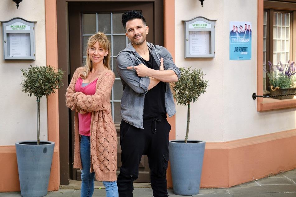 """Marc Terenzi (42) sorgt am 9. Juli in der RTL-Serie """"Unter uns"""" für Aufregung: Der Auftritt seiner Boyband Team 5ünf wirft insbesondere Ute Kiefer (Isabell Hertel, 47) aus der Bahn."""