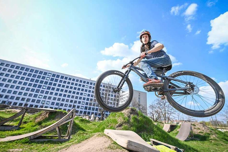 """Aus Mitteln des Stadtbezirksbeirates sollen zwei Personalstellen für das """"Bike Areal Dresden"""" an der Franklinstraße finanziert werden."""