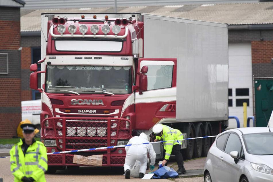In einem Lkw in Essex wurden Ende Oktober 39 Leichen gefunden.