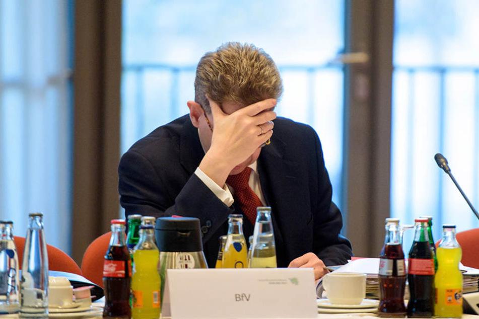 Hans-Georg Maaßen, Präsident des Bundesamtes für Verfassungsschutz, am Mittwoch bei einem Treffen der Länderinnenminister in Saarbrücken.