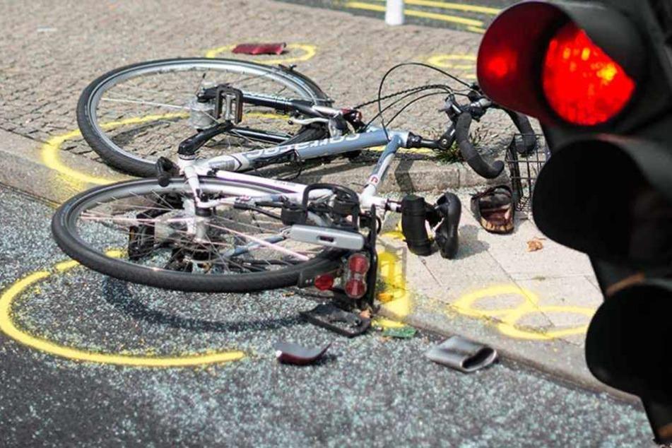 """Weil sie bei """"Rot"""" fuhr, kam es vermutlich zu dem Zusammenstoß mit einem anderen Radfahrer."""