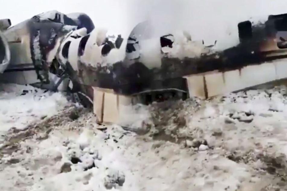 Das Spionage-Flugzeug war nur noch Schrott.