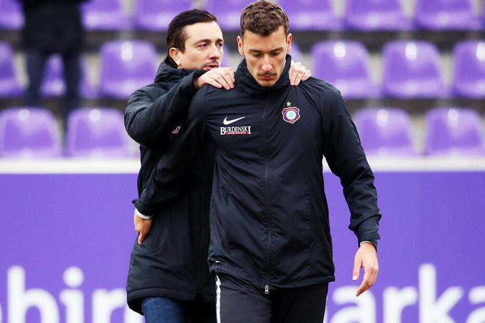 FCE-Trainer Daniel Meyer kann sich auf seine Leute verlassen - so wie auf Dominik Wydra