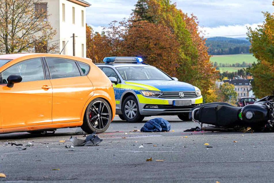 Auch die Polizei war am Unfallort.