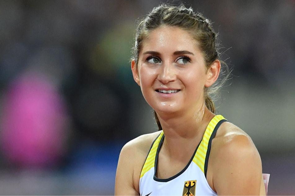 Gesa Felicitas Krause bei der IAAF Weltmeisterschaft am 11. August 2017 im Olympiastadion in London.