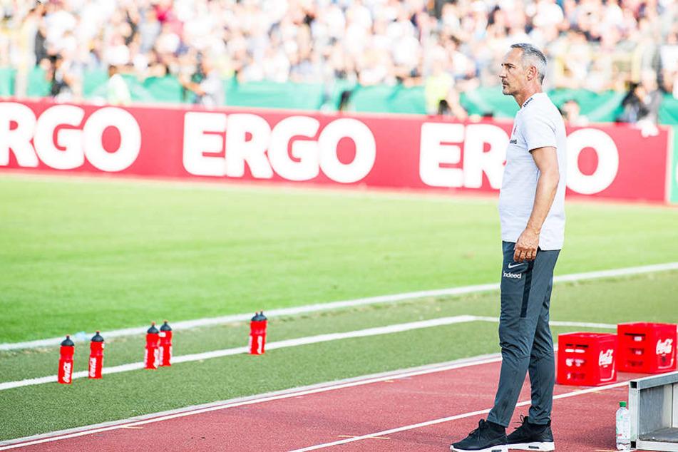 Frankfurts neuer Trainer Adi Hütter hat laut Wettanbietern schlechte Karten.