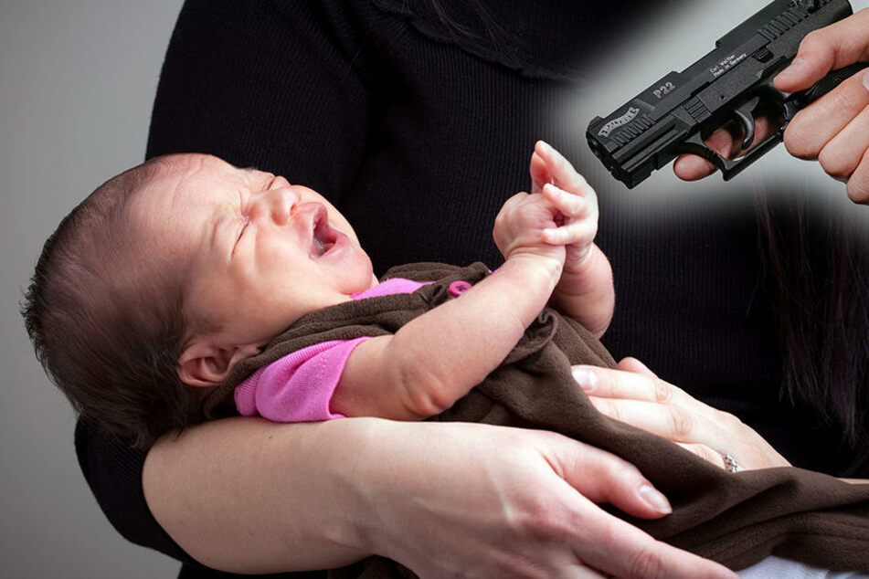 Das Baby wurde in den Armen seiner Mutter erschossen. (Symbolbild)