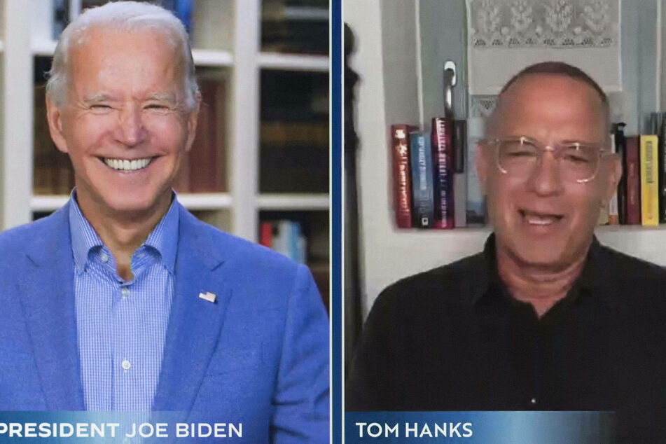 Tom Hanks (r.) is slated to host a 90-minute prime-time special for Joe Biden's inauguration.