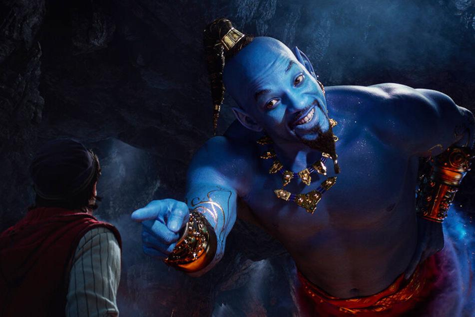 """Will Smith als Dschinni soll nach übereinstimmender Meinung vieler Kritiker eines der großen Highlights in """"Aladdin"""" sein."""