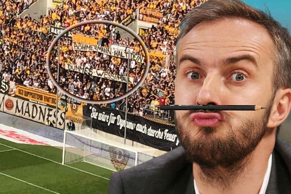 "Dynamo-Fans wütend: ""Böhmermann halt dein dummes Wessimaul"""