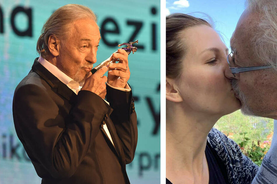 """Die jüngste """"Infusion"""", den Kuss seiner Frau Ivana (43), teilt er mit seinen treuen Fans."""
