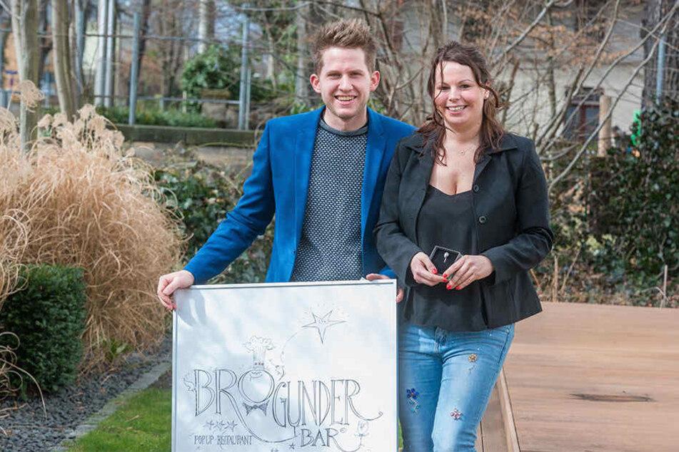 """Die beiden Sieger: Koch Sebastian Probst (30, """"BROgunderBAR"""") und Service-Expertin Nicole Hieke (29, """"finesse"""")."""