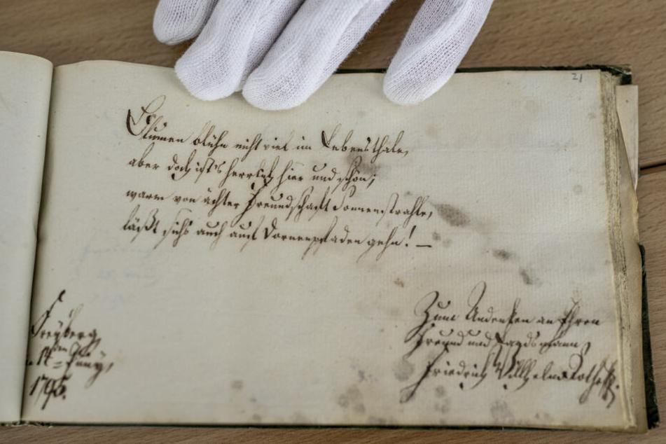 Geschrieben wurden die Einträge in lateinischer Sprache oder altdeutscher Schrift.