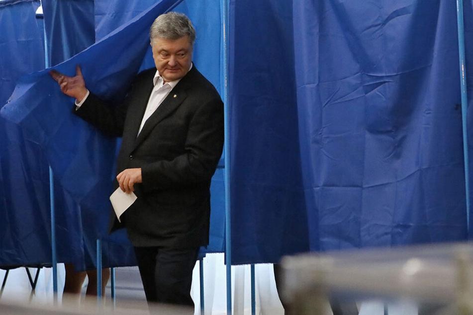 Petro Poroschenko, bislang der Präsident der Ukraine, am Wahltag.