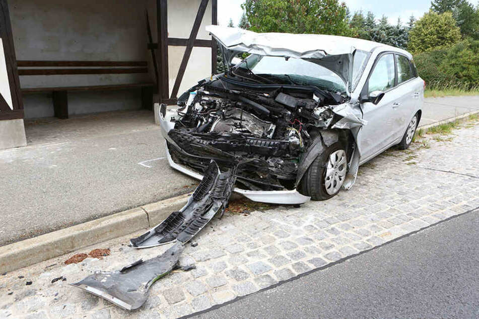 Vermutlicher Unfallverursacher war der Fahrer dieses Hyundai.