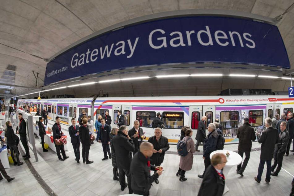 Die neue Frankfurter S-Bahn-Station Gateway Gardens.