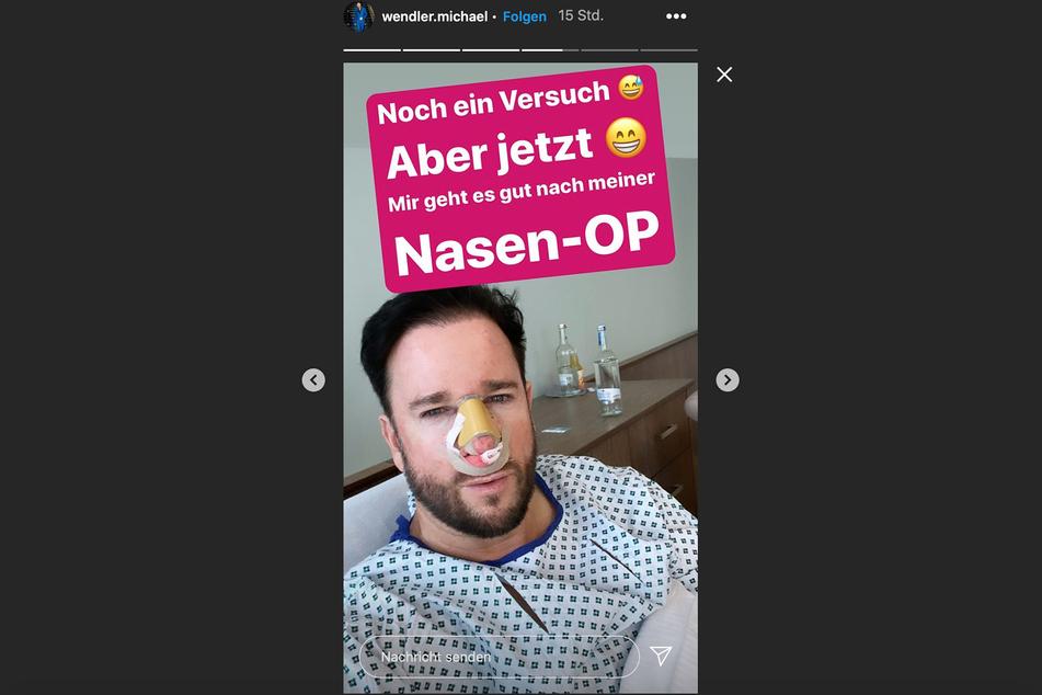 Nach der Operation meldete sich Michael Wendler mit dieser Instagram-Story an seine Fans.