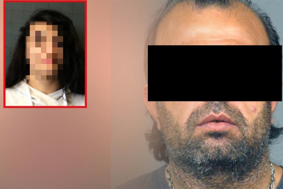 Die Fotomontage zeigt die getötete Mezgin Nassan und ihren dringend unter Tatverdacht stehenden Vater Hashem.