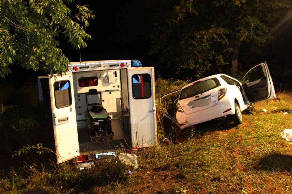 Glücklicherweise war kein Patient im Rettungswagen.