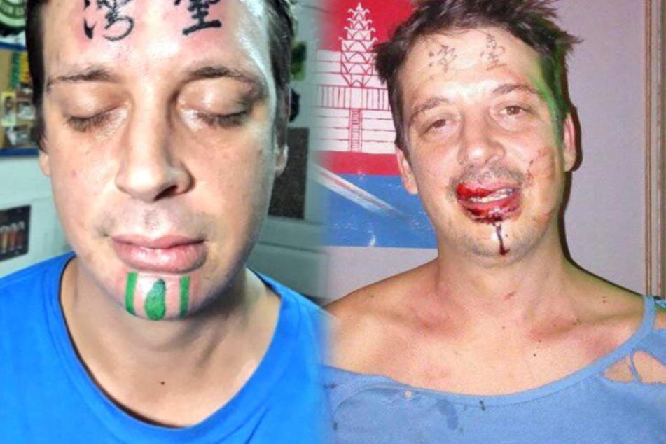 Der Brite hatte sich ein Taiwan-Tattoo stechen lassen.