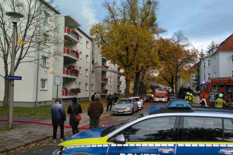 In Leuben stand eine Wohnung in Flammen.