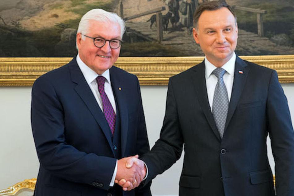 Staatsoberhaupt Frank-Walter Steinmeier (62) empfängt Polen Präsident Andrzej Duda (46) in Berlin. (Archivbild)