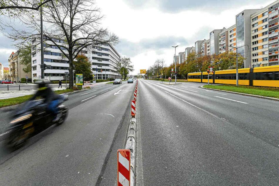 Fällt auf der Albertstraße eine Autospur weg? Am Mittwoch entscheidet der Rat.