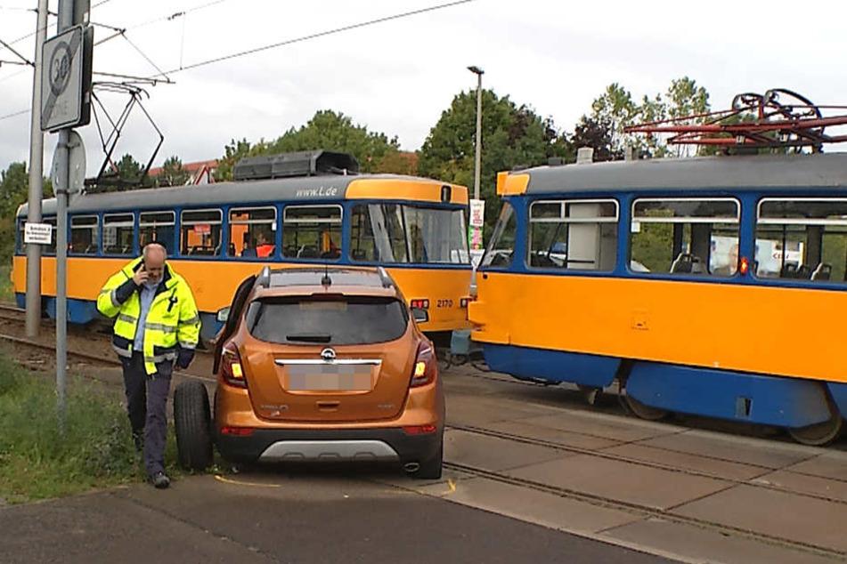 Der Aufprall war so heftig, dass sich der Opel einmal drehte und die Hinterachse brach.