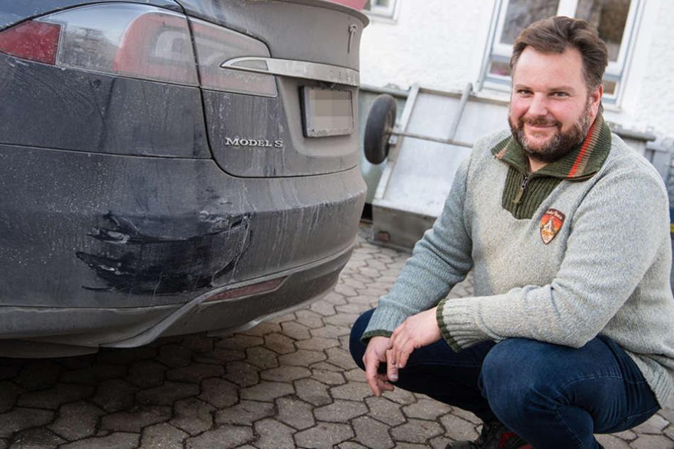 Manfred Kick (41) stoppte mit seinem Wagen einen Fahrer, der sein Auto nicht mehr unter Kontrolle hatte.