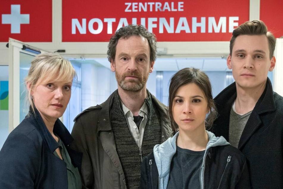 Das Dortmunder Tatort-Team v.l.n.r.: Anna Schudt als Martina Bönisch, Jörg Hartmann als Peter Faber, Aylin Tezel als Nora Dalay, Rick Okon als Jan Pawlak.