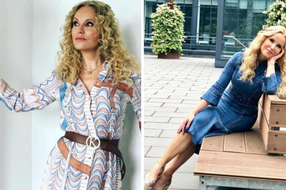 Traurige Katja Burkard in Sorge um ihre Tochter