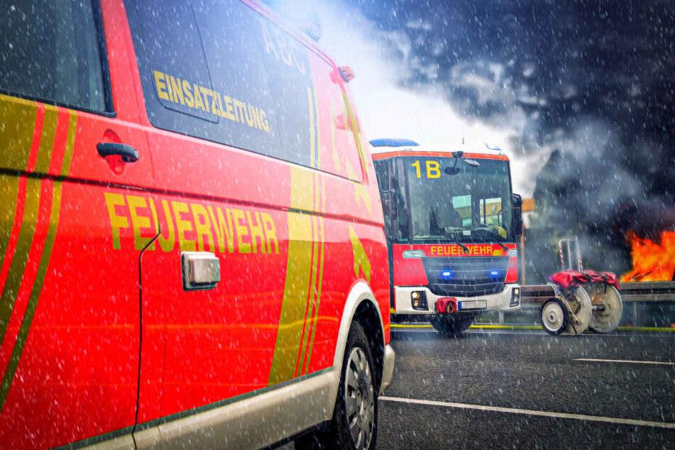 Die Feuerwehr war mit 120 Einsatzkräften vor Ort.