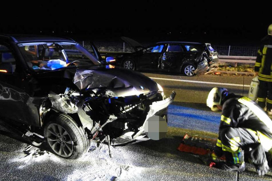 Am Totensonntag krachte es auf der A14 bei Leipzig.