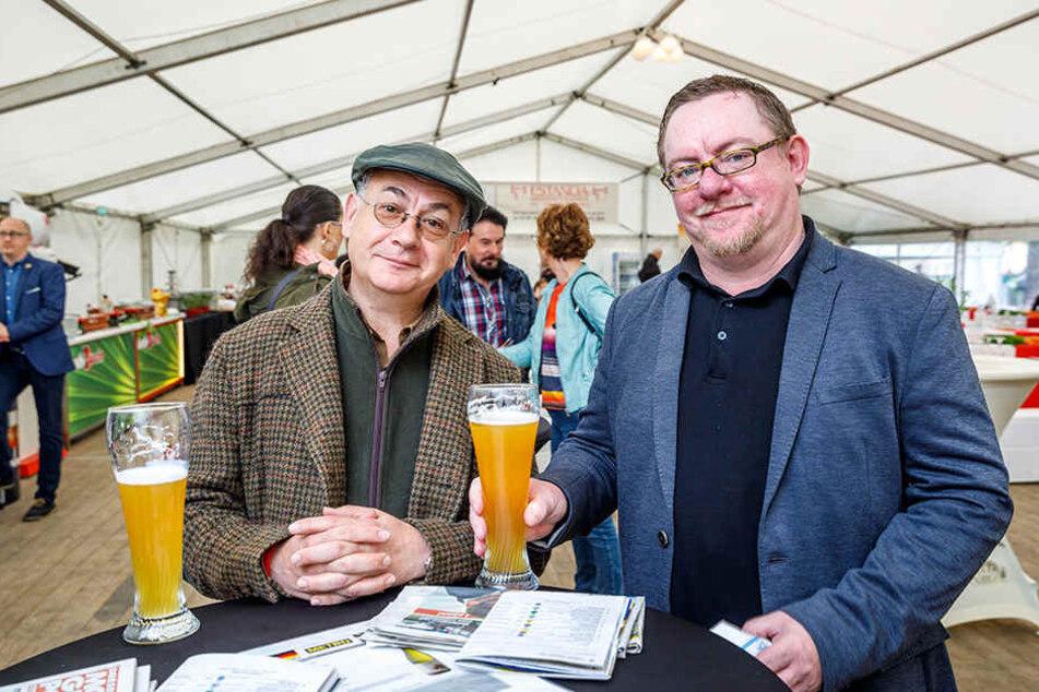 Stammgäste auf der Rennbahn: Kabarettist Tom Pauls (58) und Autor Mario  Süßenguth (47).