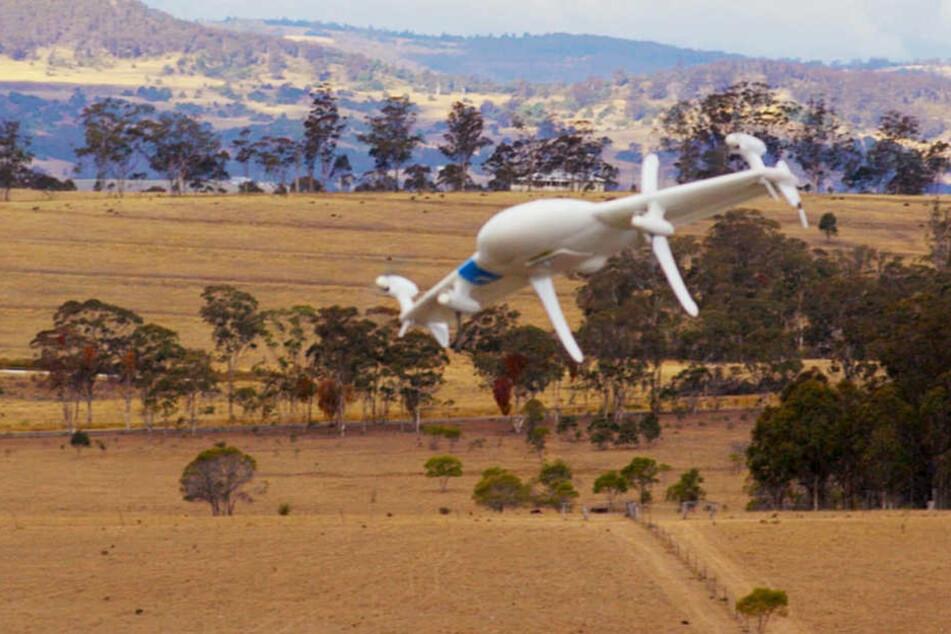 Mit solchen Drohnen will Google zukünftig Essen liefern.