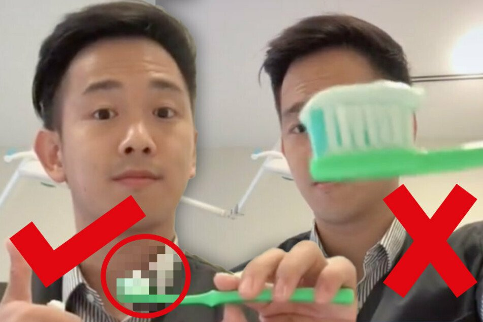 Are you using the right amount of toothpaste? This dentist's TikTok video has the answer