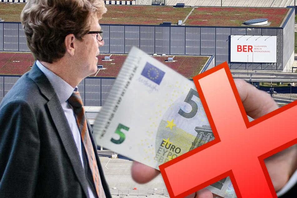 Für die Tegel-Befürworter spielt die finanzielle Schieflage in Schönefeld eine große Rolle im Volksentscheid. (Bildmontage)