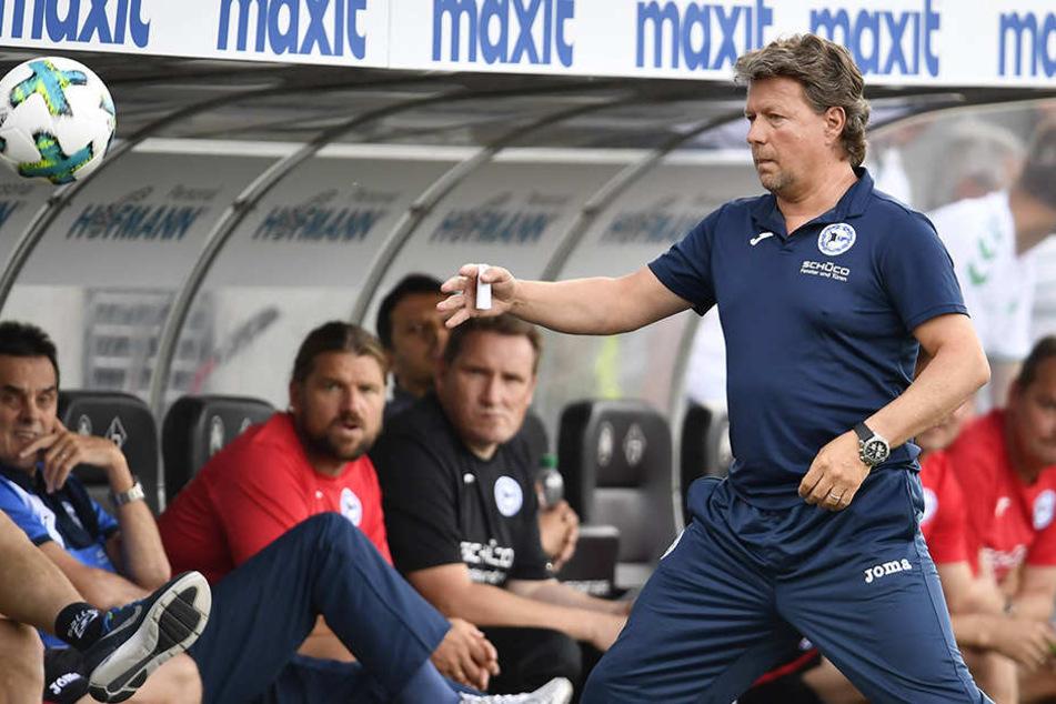 DSC-Trainer Jeff Saibene (48) freut sich auf das Pokalspiel gegen Fortuna Düsseldorf.