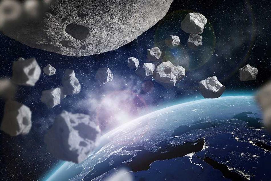 Tausende Asteroiden befinden sich in der Nähe der Erde.