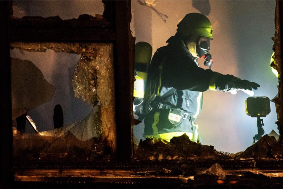 Die Kita im Frankfurter Stadtteil Dornbusch brannte vollständig nieder.