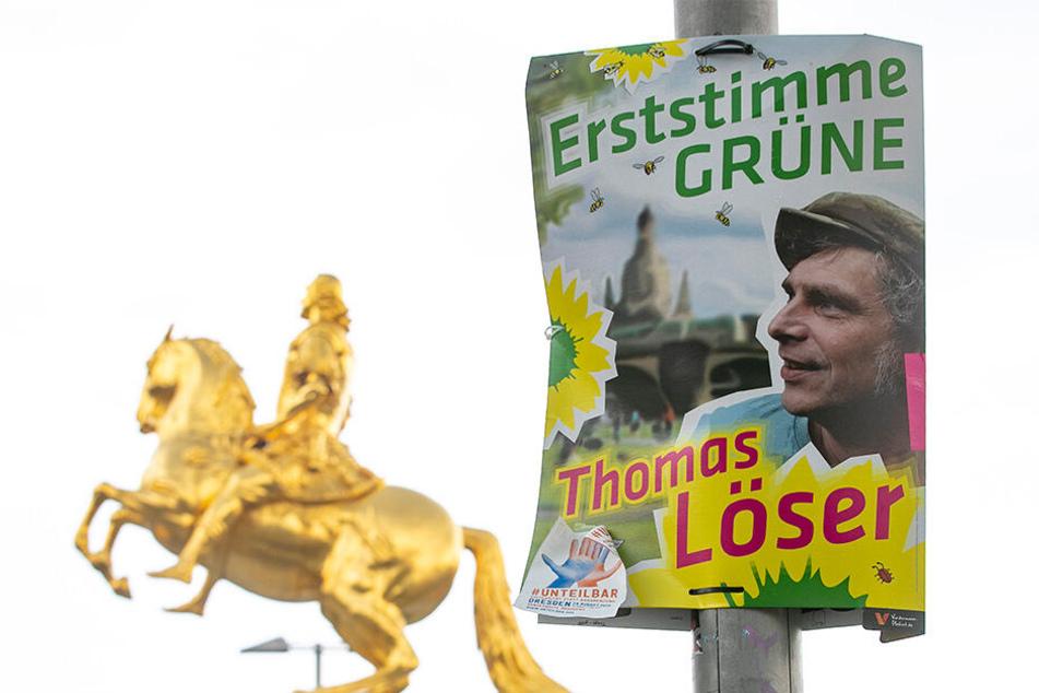 Offensiv wie nie werben die Grünen auch um die Erststimme - hier Thomas Löser (47).