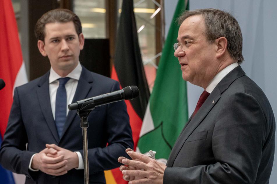 Der nordrhein-westfälische Ministerpräsident Armin Laschet 60, (CDU) und der österreichische Bundeskanzler Sebastian Kurz (34) haben im Kampf gegen die Corona-Pandemie europäische Lösungen angemahnt.